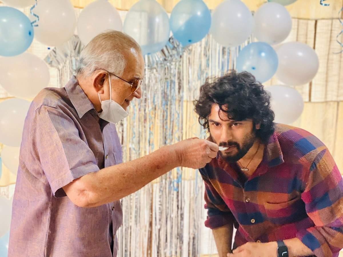 Sudheer Babu with Senior star Krishna