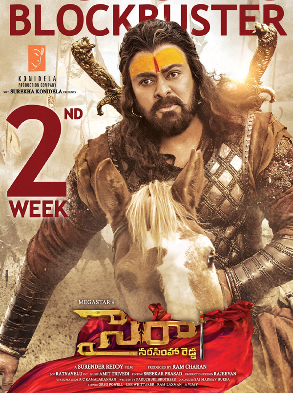 Sye Raa 8 Days Box Office Collections Shares