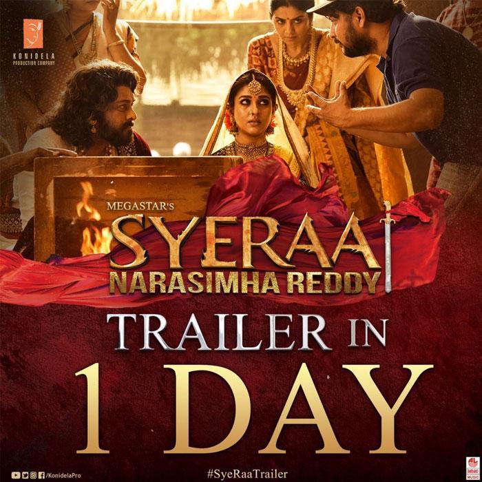 Sye Raa Theatrical Trailer Tomorrow