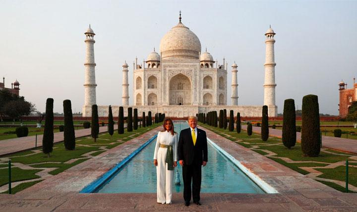 Trump Visits Taj Mahal