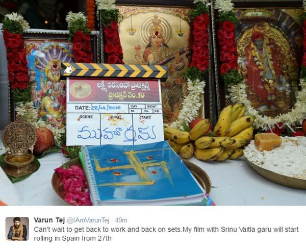 Varun Tej, Srinu Vytla Mister Film Is On