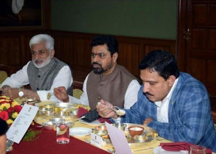Vijay Sai Reddy's Dinner with TDP MPs