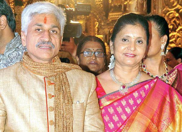 Vijaya Sai Reddy's wife files nomination for RS polls