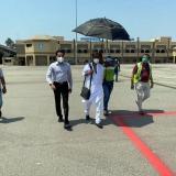 Rajinikanth snapped at Begumpet airport