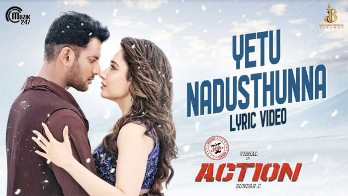 action,vishal,tamanna,song,good response  విశాల్ 'యాక్షన్' సాంగ్ అదిరింది