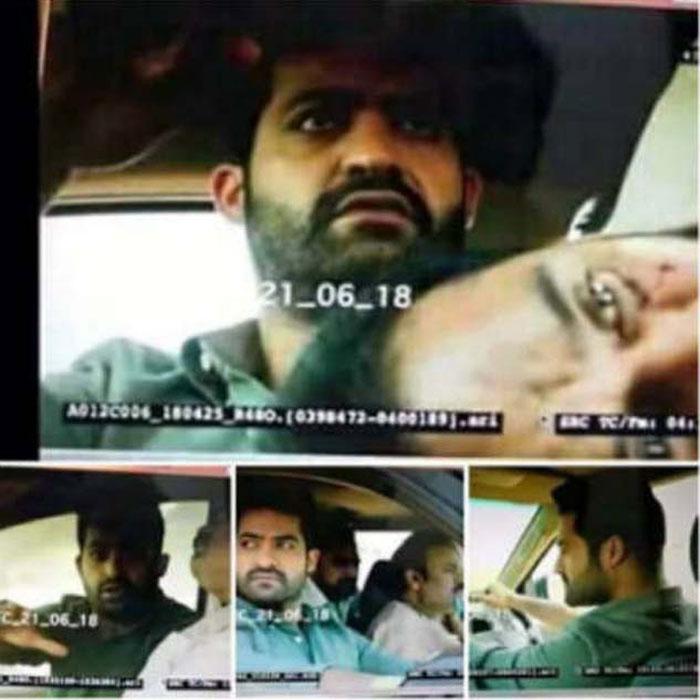 aravinda sametha,jr ntr,trivikram srinivas,leaked pics,teaser cutting pics  మళ్లీ లీక్: 'అరవింద సమేత' ఇలా అయితే కష్టమే!