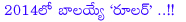 balakrishna,ruler,boyapati srinu,balakrishna with boyapati srinu,ruler movie details,ruler movie opening details,ruler movie stats in may 2013,ruler movie release in 2014,2014 ruler balakrishna,nandamuri nata simham,balayya,ruler telugu movie