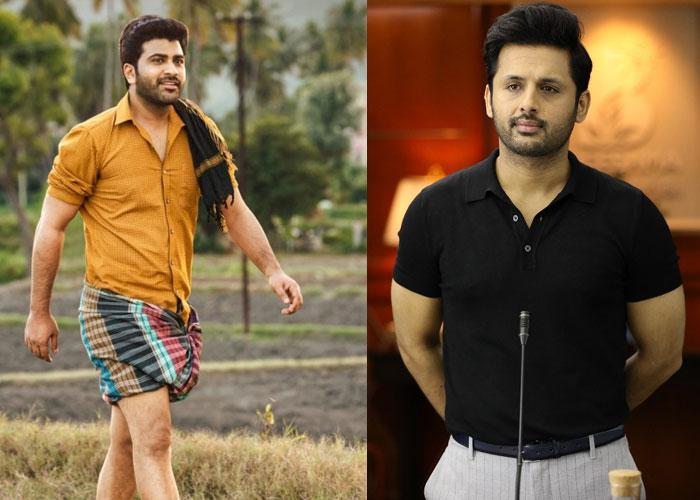 similarities,nithiin,bheeshma,sharwanand sreekaram movie  నితిన్ రూపంలో శర్వాకి మరో దెబ్బ!