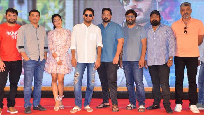 nithiin,rashmika mandanna,bheeshma,movie,success meet,highlights  నేను చేసిందల్లా కాపీ కొట్టడమే: నితిన్