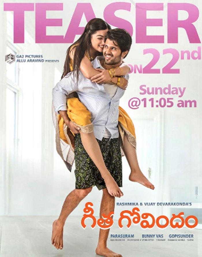 vijay devarakonda,geetha govindam,teaser,poster,july 22  హీరోయిన్ బరువు, భాద్యత హీరో చేతుల్లో..!