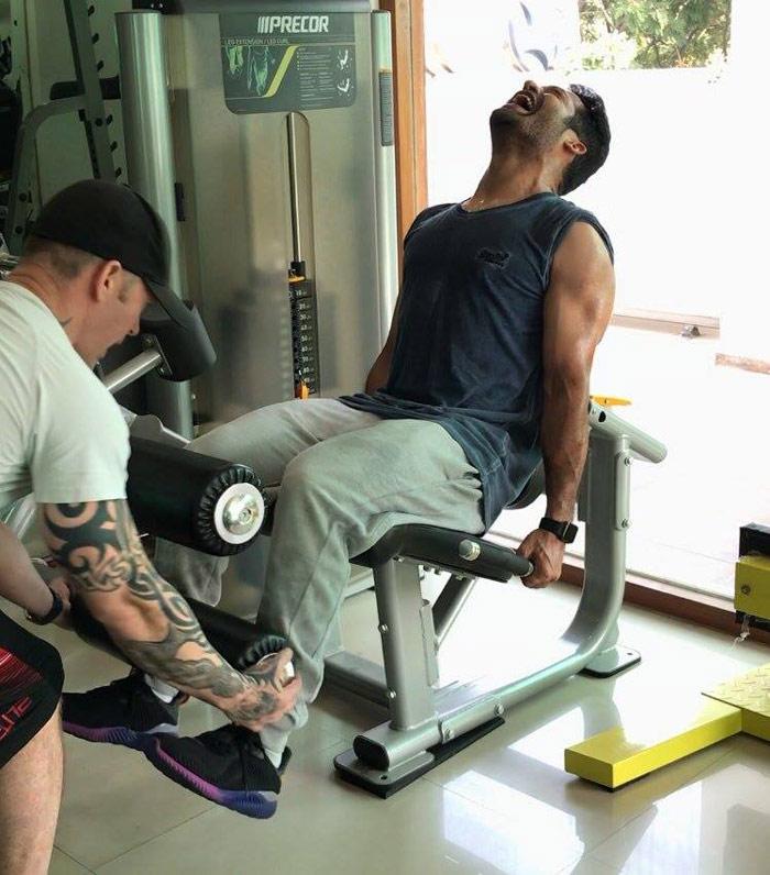 jr ntr,trivikram,gym,young tiger ntr,workouts  త్రివిక్రమ్ కోసం ఎన్టీఆర్ ఎంత కష్టపడుతున్నాడో!