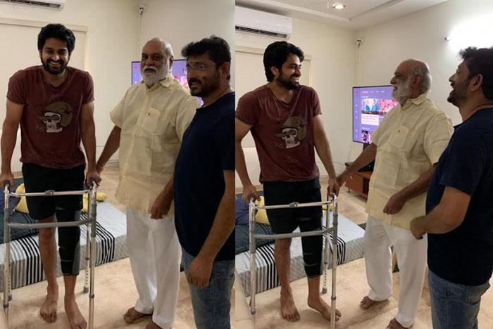k raghavendra rao,bvs ravi,naga shourya house,injury,wish  నాగశౌర్యని పరామర్శించిన దర్శకేంద్రుడు