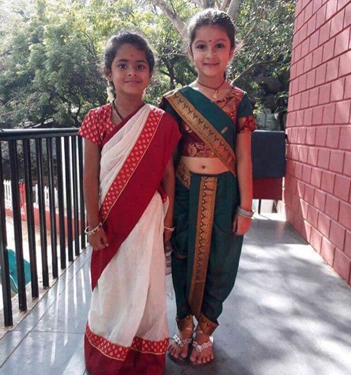 sitara,mahesh babu daughter,marathi getup,namrata shirodkar  మహేష్ కూతురా..! మరాఠీ అమ్మాయా..!