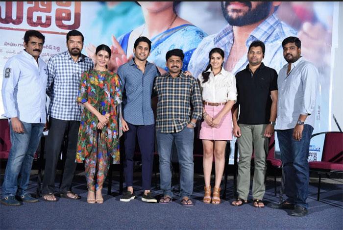 naga chaitanya,samantha,divyansha kaushik,majili movie,success meet  'మజిలీ' బ్లాక్బస్టర్ అవుతుందనుకోలేదు: సామ్
