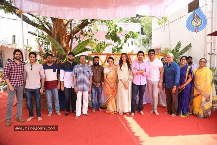 nagarjuna,manmadhudu 2,movie launch,details  'మన్మథుడు 2'కు క్లాప్ కొట్టారు