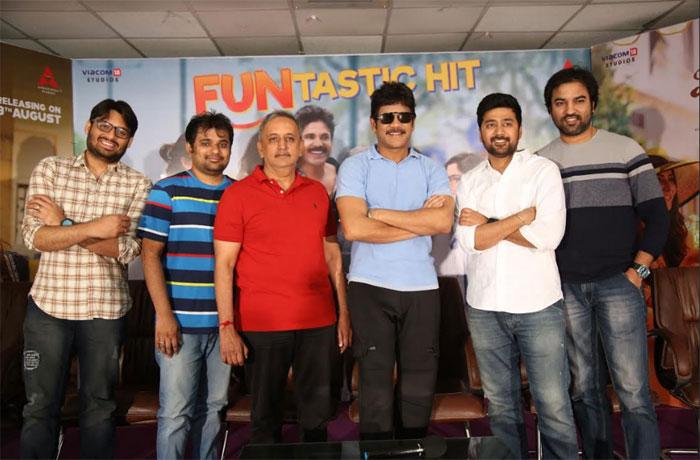 celebrities,speech,manmadhudu 2,success,meet  అందుకే 'మన్మథుడు 2' చేశాను: నాగార్జున