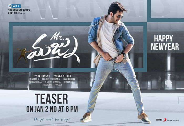 akhil akkineni,mr majnu,teaser,release,jan 2  'మిస్టర్ మజ్ను' టీజర్కు టైమ్ ఫిక్స్