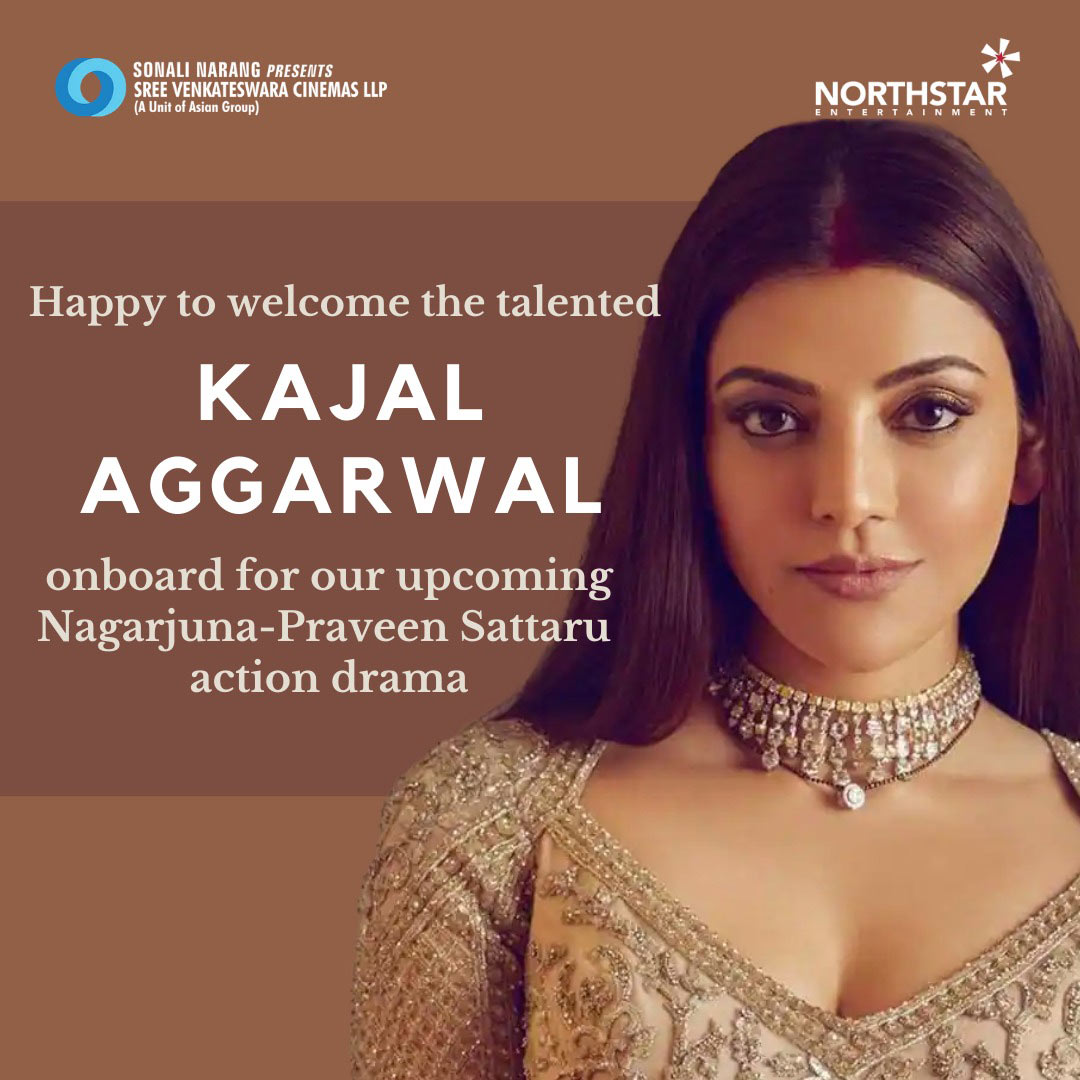 king nagarjuna,big action entertainer,kajal aggarwal,heroine,directed,praveen sattaru  ఆఫీషియల్: నాగ్ తో కాజల్