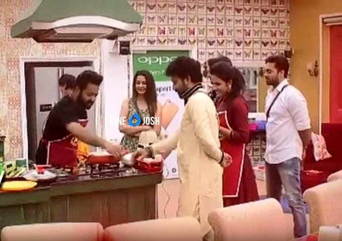 jr ntr,bigg boss,mutton biryani,bigg boss contestants  బిగ్ బాస్ హౌస్ లో అన్ని చూపెట్టేశాడు..!