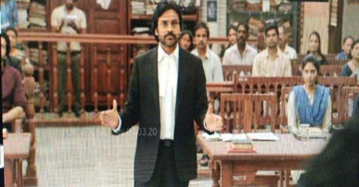 pawan kalyan,vakeel saab,leaked pic,viral,anjali,power star  పవన్ 'వకీల్సాబ్' లీక్డ్ పిక్ వైరల్..!