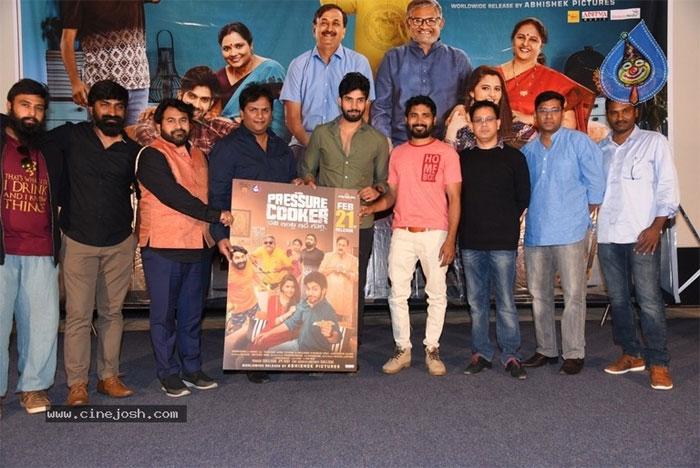 abhishek naama,pressure cooker,movie,poster,launch  'ప్రెజర్ కుక్కర్' లాంటి సినిమాలు రావాలంటున్నాడు