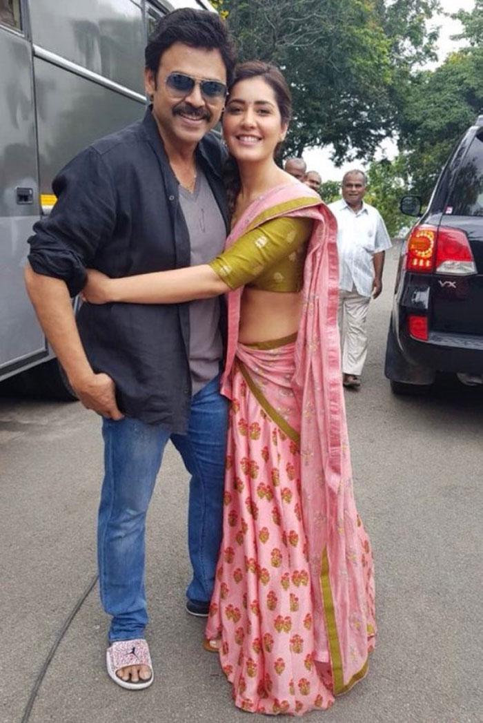 raashi khanna,look revealed,venkymama,movie,venkatesh  'వెంకీ మామ' పల్లెటూరి పిల్ల పిక్ వచ్చేసింది!