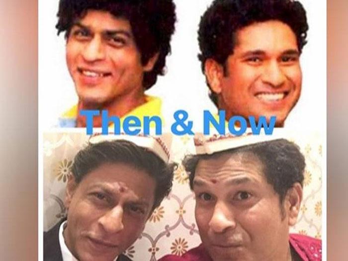 sachin tendulkar,shahrukh khan,selfie,srk,srt  ఈ సెల్ఫీకి అంత విశేషం ఉందన్నమాట..!