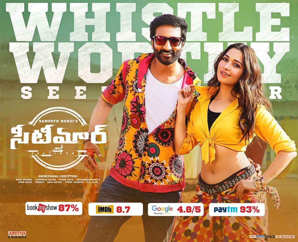 gopichand,seetimaarr movie,maas commercial hit,tamanna,sampath nandi,jwala reddy song  సీటీ కొట్టించిన సీటిమార్