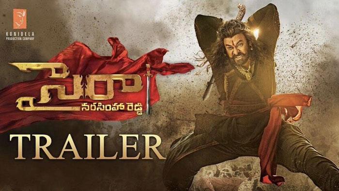 sye raa trailer,sye raa trailer review,sye raa narasimha reddy,chiranjeevi,ram chiranjeevi,syeraa movie trailer  'సైరా' ట్రైలర్: ఇక యుద్ధమే..!
