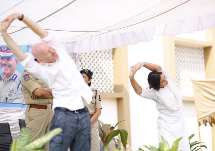 upasana,yoga,police,yoga special program  పోలీసులకి 'ఉపాసన' యోగా పాఠాలు